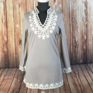 INC International Concepts Embroidered Tunic Top